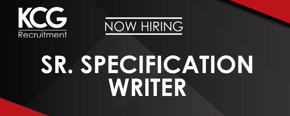 Sr. Specification Writer -min