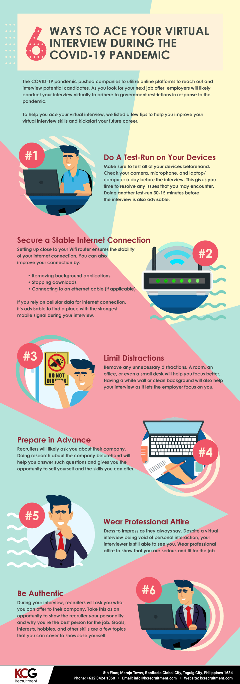 6 Ways To Ace Your Virtual Interview During the COVID-19 Pandemic [Infographic]